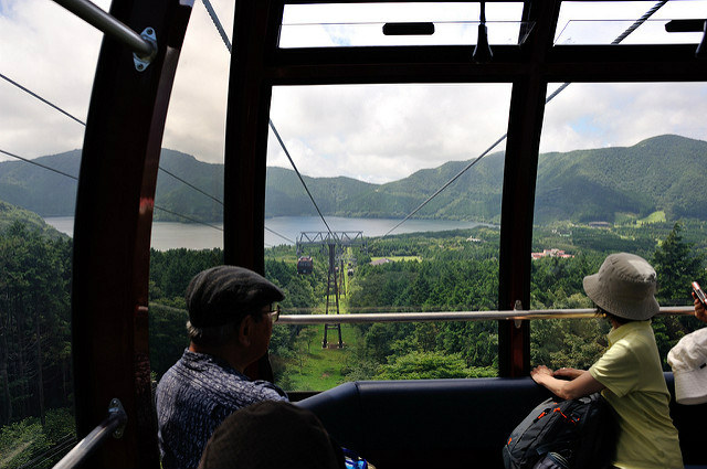 Riding the Hakone Ropeway, Japan