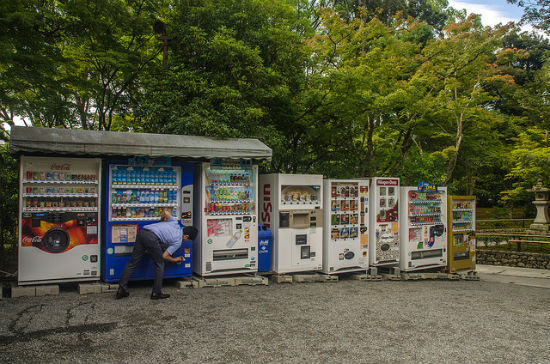 Strange amount and variety of vending machines, Japan