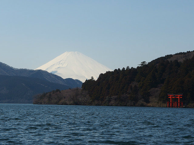 Mt. Fuji view at Lake Ashi, Hakone, Japan
