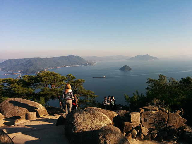 View from Mt. Misen, Miyajima Island, Japan