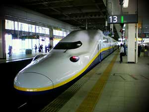 JR pass with Shinkansen bullet train, Japan